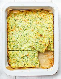 Placek z cukinii   Kwestia Smaku Fall Recipes, Healthy Recipes, Healthy Food, Avocado Toast, Guacamole, Quiche, Side Dishes, Clean Eating, Good Food