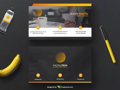 Yellow and black corporate business - Freebcard