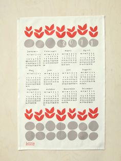 have this stencil from Lotta Jansdotter and adore it (- the calendar part).