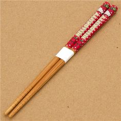 kawaii Hello Kitty Chopsticks with apples & dots  cute wooden chopsticks with Hello Kitty, red apples and many dots
