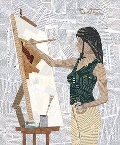 """Inspiration"" - collage art by Richard Curtner"
