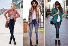 Combinação de Jeans com peças finas, moderno, sofisticado e super Fashion. E da pra brincar com as peças que temos no guarda roupas, um jeans com um casaquinho de corte fino colorido, lenços, camisas de tecido plano, entre outros dão um ar super despojado e Lindo.