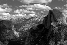 Half Dome And Clouds Rest Yosemite National Park Photograph