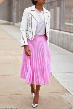 pink #midi skirt