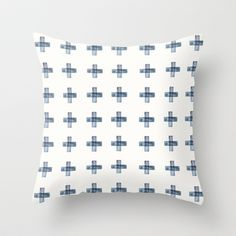 Cross+Throw+Pillow+by+K.Lewis+Illustration+-+$20.00
