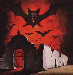 Vampire Bat, American Gothic, Witch House, Samhain, Dracula, Dusk, The Darkest, Creepy, Horror
