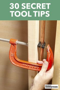 30 Secret Tool Tips When it comes to DIY experience, nobody can match Family Handyman's field editors. And here they're sharing their best-kept secret tool tips with you! Wood Shop Projects, Diy Projects, Garage Tools, Diy Home Repair, Home Repairs, Hacks Diy, Diy Home Improvement, Woodworking Projects, Carpentry Tools