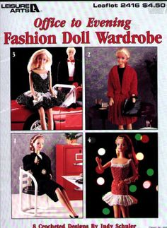 Free Copy of Crochet Pattern - Office to Evening Fashion Doll Wardrobe