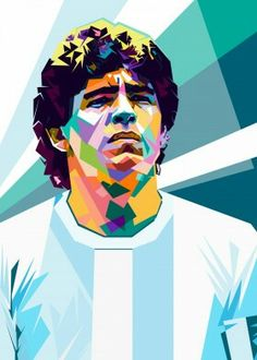 "Beautiful ""Diego Maradona"" metal poster created by Sobri Alkavie. Our Displate metal prints will make your walls awesome. Pop Art Posters, Vintage Posters, Poster Prints, Maradona Tattoo, Maradona Football, Escudo River Plate, Diego Armando, Pictures Of Christ, Pop Art Portraits"