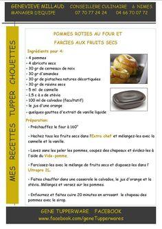 Dessert - Pommes rôties au four et aux fruits secs -  Ultra Pro - Tupperware