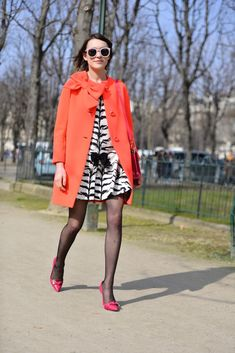 My final look for #PFW #AW15 // wearing kate spade ny, Giambattista Valli for 7FAM and Mulberry