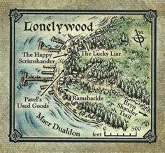 The Forgotten Realms: Lonelywood Map