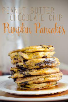 Peanut Butter Chocolate Chip Pumpkin Pancakes|The Local Taste