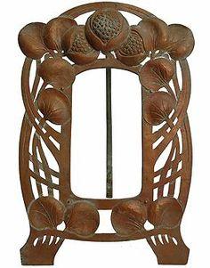 Exceptional Antique French Art Nouveau Copper Picture Frame