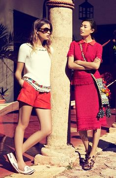 Tory Burch Spring 2013: Lovin' the hues of poppy & red.