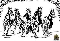 5 Horses Running - New Pattern Announcements - Scroll Saw Village