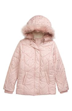 Justice Size 12//14 12 14 Girls Faux Fur /& Sherpa Hooded Suede Look Jacket NEW