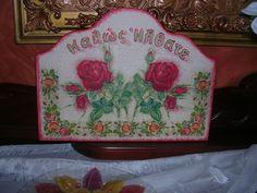 """""""Καλώς ήλθατε"""" με τριαντάφυλλα! """"Welcome"""" with roses! Decorative Boxes, Home Decor, Homemade Home Decor, Decoration Home, Decorative Storage Boxes, Interior Decorating"""