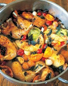 tender and crisp chicken legs with sweet tomatoes #nifty