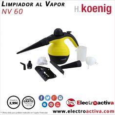 ¡¡Limpia en profundidad todas las superficies!! Limpiador al vapor HKOENIG NV 60 http://www.electroactiva.com/h-koenig-limpiador-al-vapor-nv60.html #Elmejorprecio #Limpiadoralvapor #Electrodomestico #PymesUnidas