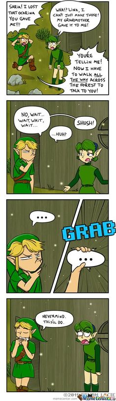 Oh, Link. Talking to Saria gets a lot harder once she is awakened as the Sage of the Forest! If only you knew....
