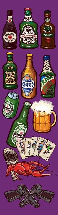 Drinks, by Konstantin Shalev on Behance on Behance