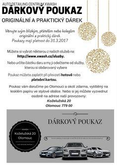 Dárkový poukaz, Xwash, Auto detailing, dárek, Olomouc,