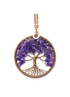 Tree-of-Life • Tree-of-Life Pendant • Tree Life Necklace • Family Tree • Wire…