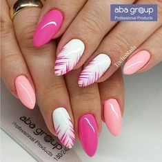 40 simple summer nails art designs for 2018 - Nagelkunst Design - Nageldesign Spring Nails, Summer Nails, Nails Summer Colors, Summer Nail Art, Trendy Nails, Cute Nails, Fancy Nails, Hair And Nails, My Nails