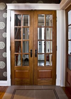 Porte fran aise double avec verrou encastr et astragale for Porte de salon double battant