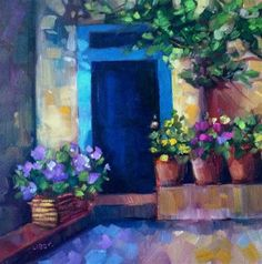 """Daily Paintworks - """"Blues"""" - Original Fine Art for Sale - © Libby Anderson"""