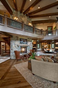 open floor plan wow! So beautiful! love the idea of having the upper story be a border!!!! I NEED THIS TO BE IN MY HOME!
