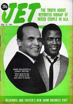 Harry Belafonte, Sidney Poitier, Jet Magazine, February Two handsome actors. Jet Magazine, Black Magazine, Life Magazine, Ebony Magazine Cover, Magazine Covers, Black Art, Black History Facts, Strange History, Harry Belafonte