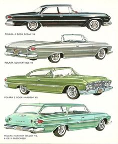 Vintage Cars 1961 Dodge Polara - From my collection of auto advertising brochures that I started in the seventies and still going. Dodge Dart, Pub Vintage, Vintage Cars, Carros Suv, Automobile, E Motor, Dodge Vehicles, Chrysler Cars, American Classic Cars