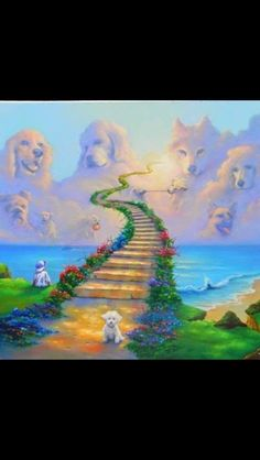 Rainbow Bridge.  Loved and lost a few wonderful dogs.  They really do leave paw prints on the heart.