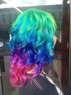 colorful hair via~ Color Crazy