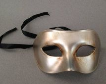 Mens Halloween Masquerade Mask Venetian Style Costume Gold Silver Eye Mask
