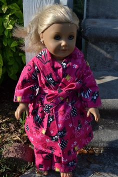 Flannel Sleepwear for the American Girl by love2sew on Etsy, $20.00
