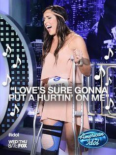 """Love's sure gonna put a hurtin' on me.""     #idol #idolauditions #idolbatonrouge"