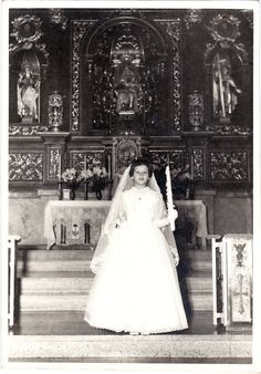 Doña Mercedes Parés Quirós on her First Communion back in 1964. In those days, she used to live in Managua, Nicaragua