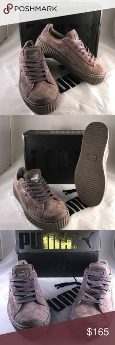 FENTY Puma x Rihanna's Suede Lace Up Creeper FENTY Puma x Rihanna Women's Suede Lace Up Creeper Sneakers Cement/gray Size 7.5 comes with box only Puma Shoes Sneakers