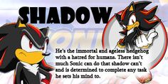 I'm Shadow I'm Shadow I'm Shadow and no one else