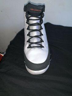 pretty nice 0deaf 64304 air jordan 9 retro white black-true red  fashion  clothing  shoes