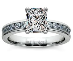 Radiant Channel Diamond Engagement Ring in Platinum  http://www.brilliance.com/engagement-rings/channel-round-diamond-ring-platinum-1/2-ctw