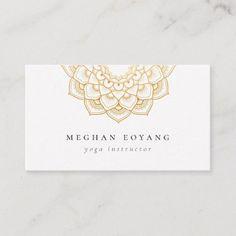 Shop Elegant Golden Mandala Logo Business Card created by PoshPaperCo. Elegant Business Cards, Business Card Mock Up, Business Logo, Business Card Design, Business Ideas, Logo Design, Brochure Design, Design Design, Store Design