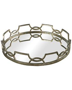 Spotted this Iron Scroll Mirrored Tray on Rue La La. Shop (quickly!).