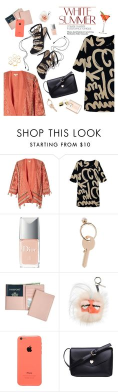 """""""White Summer"""" by punnky ❤ liked on Polyvore featuring Monsoon, Paul Andrew, Christian Dior, Maison Margiela, Royce Leather, Fendi, women's clothing, women, female and woman"""