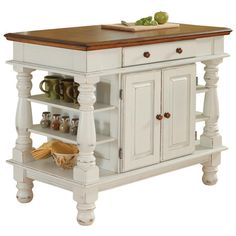 Found it at Wayfair - Americana Kitchen Island in White & Oak, I bet we could make this.