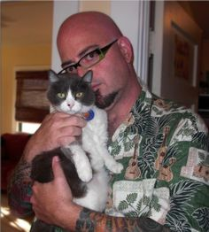 Animal Planet star and author Jackson Galaxy with his cat Bennie, inspiration for Cat Daddy, his new memoir.