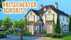 Today I am building a sorority house in the world of Britechester from Discover University. I hope you enjoy, thanks for watchin. Sorority Paddles, Sorority Crafts, Sorority Canvas, Sorority Recruitment, Sorority Houses, University Housing, Sims 4 College, Sims House Design, Houses